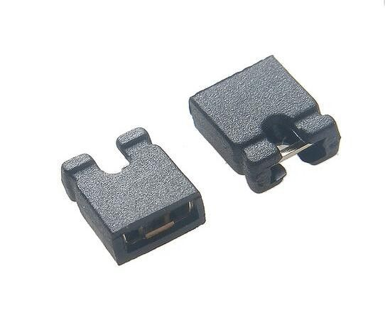 Tin Plated Brass Mini Jumper Connector , 2 54mm Pitch Open / Close